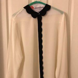 Banana Republic Long Sleeve Silk Blouse